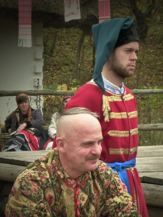 Cossack judge - I think - the Hetman?