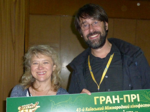 Molodist Film Festival prize winner with Natasha Vasylyuk of British Council