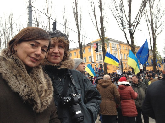 Jan Bradley & Liz Pugh stand with the people of Ukraine, in their hundreds of thousands