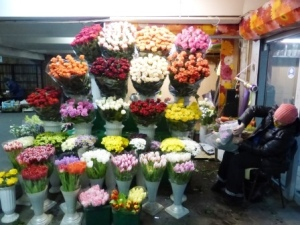 Flower sellers at every metro station