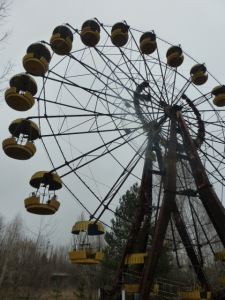 Entertainment facilities in Pripyat included a ferris wheel and dodgem cars...