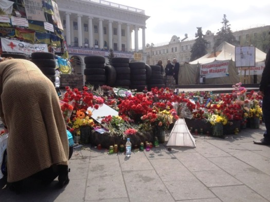 One of the lanterns ended up at the Maidan in Kyiv...